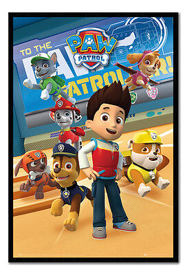 Framed Paw Patrol Characters Poster New