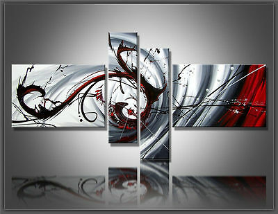 4pc MODERN ABSTRACT HUGE WALL ART OIL PAINTING ON CANVAS (No frame)