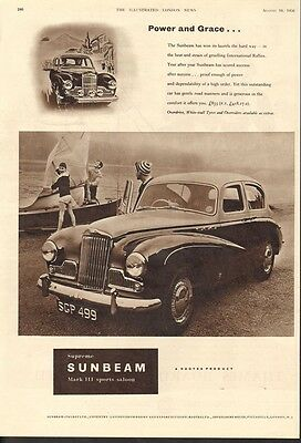 1956 Sunbeam Mark Ii Sports Saloon Car Auto Beach Sailboat International 18546