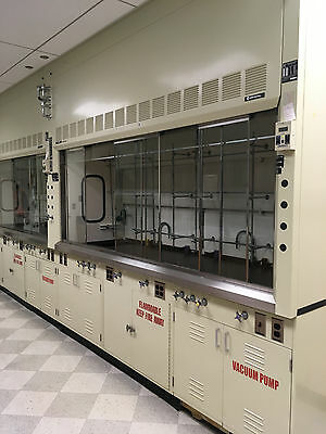 8' Hamilton SafeAire Bench Fume Hood with Base Cabinets