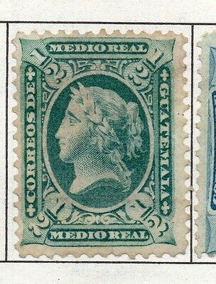 Guatemala 1871-1902 Early Issue Fine Mint Hinged 1/2c. 138943