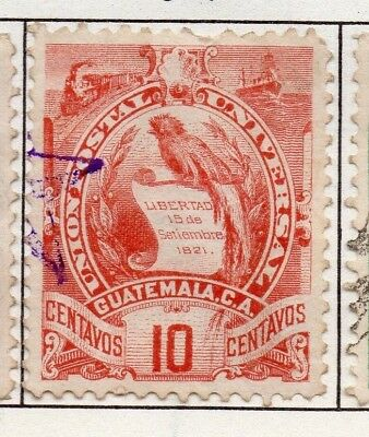 Guatemala 1871-1902 Early Issue Fine Used 10c. 138958