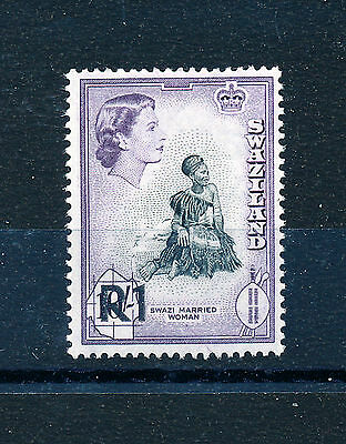 SWAZILAND 1961 DEFINITIVES SG76 1r. on 10s.  MNH