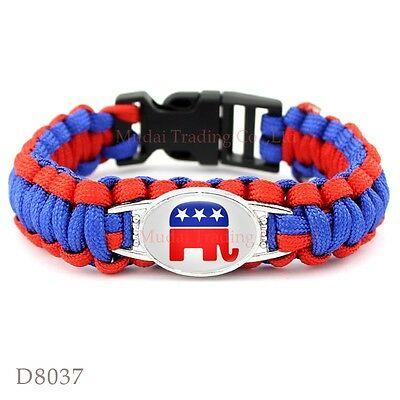 Republican Party Paracord Bracelet Survival Parachute Camping