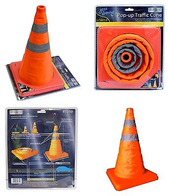 16'' Folding Pop-Up Multipurpose Emerging Traffic Cone Roadside Emergency Safety