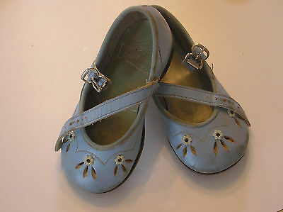 Vintage 1950's Leather Blue Shoes by Blue Bird Shoes