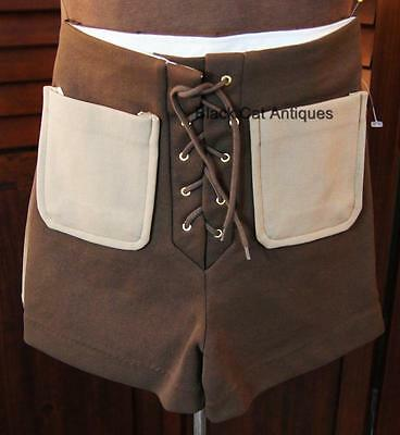 RETRO Vintage Boys Brown 2-Way Stretch Swimsuit Trunks Shorts Size 6 NOS