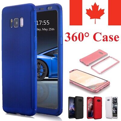 For Samsung Galaxy S5 S6 S7 Case Ultra Thin Slim Hard Cover+ Tempered Glass