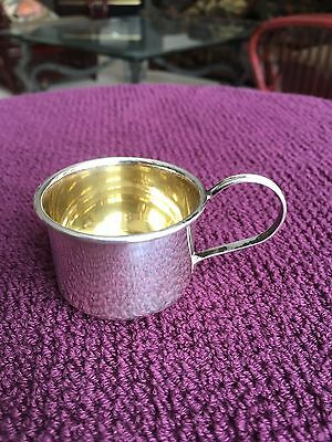 WEB Sterling Baby Cup  20g or 0.64 troy oz. No Monogram Gold Wash EXCL Condition