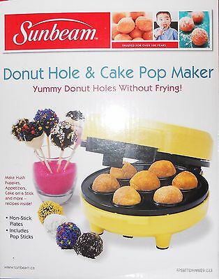 Sunbeam Donut Hole & Cake Pop Maker - Yellow - Fpsbttdhm623-033