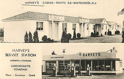 Harvey's Shell Gas Station & Harvey's Cabins, Route 28 Whitehouse NJ 1949