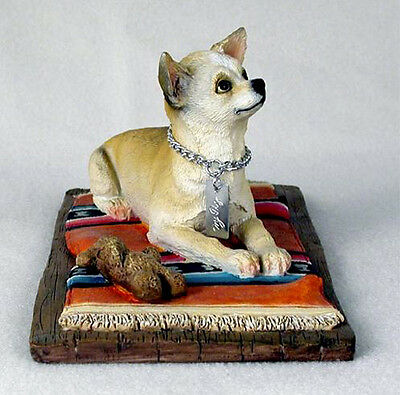 CHIHUAHUA TAN  MY  DOG  Figurine Statue Pet Lovers Gift Resin Hand Painted