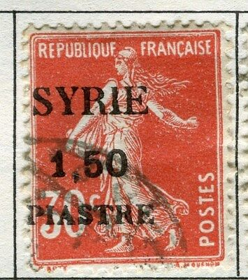 FRENCH M. EAST  1924 SYRIE surcharged issue 1.50Pi. used Sower value