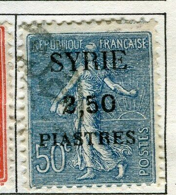 FRENCH M. EAST  1924 SYRIE surcharged issue 2.50Pi. used Sower value