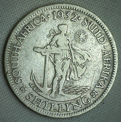 1932 Silver South Africa One 1 Shilling African Coin You Grade It