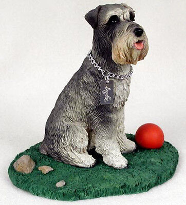 SCHNAUZER  MY  DOG  Figurine Statue Pet Lovers Gift Resin Hand Painted