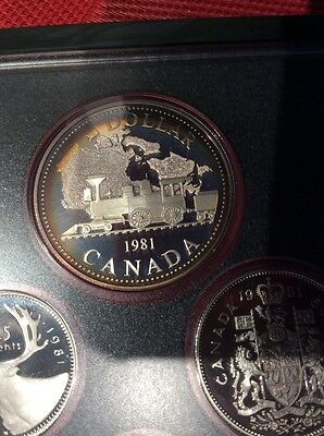 1981 CANADA  > SILVER DOLLAR , NICE TONING  > 1981 PROOF SET Canada Coinage