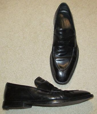 Hugo Boss Black Leather Loafers Size 10  Men's