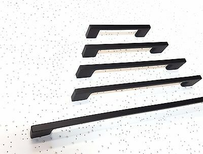 Black Kitchen Handles In Various Sizes, Durable Electroplated Finish