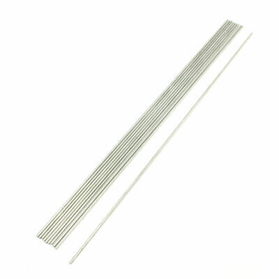 RC Airplane 300mm x 2mm Stainless Steel Round Rod 10 Pcs