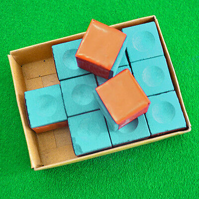 Billiard Table Chalk Pool Snooker Cue Tip 1 pc individual or 1 Box  2 Colors
