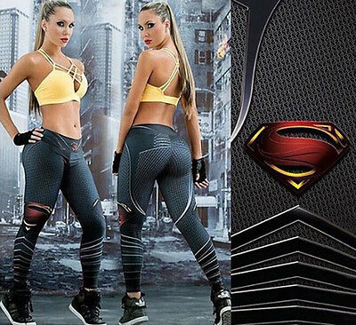 Women's Yoga Fitness Leggings Running Gym Stretch Sports Long Pants Trousers UK