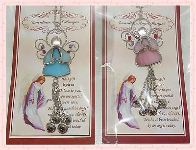 STAINED GLASS  ANGEL SUN CATCHER blue (365159)