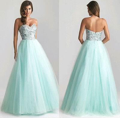 US Womens Prom Ball Cocktail Evening Party Formal Gown Long Bridesmaid Dress New
