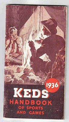 Keds Athletic Shoes 1936 Handbook of Sports and Games Cowboy Camping Advertising