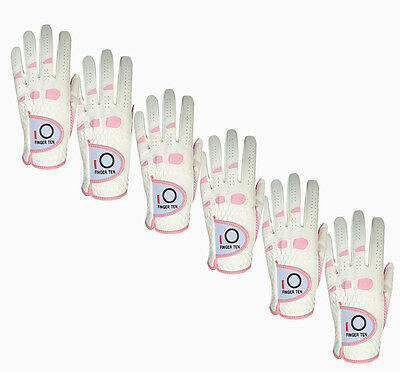 Women Ladies Large 6 Pack Golf Gloves Pink Grip Left and Right Value Glove it M