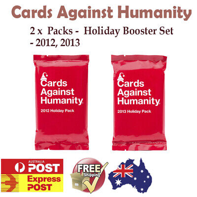 NEW Cards Against Humanity 3x Booster Expansion Holiday Pack Set Card Party Game