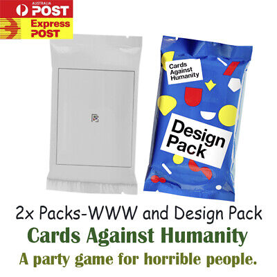 New Cards Against Humanity 2x Booster Expansion Pack Party Game 90s and design