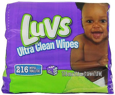 Luvs Ultra Clean Wipes Refills, 216 Count Total Wipes - Discontinued