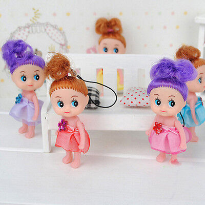 6  Mini Ddung Doll  Toy Confused Doll Key Chain Phone Pendant Ornament nuevo LM
