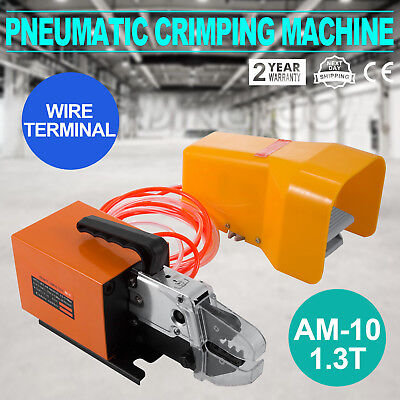 Pneumatic Wire Terminal Mobile Crimping Machine AM10 1.3T Crimper Tool Electric
