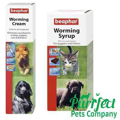 LOW PRICE Beaphar Worming Syrup Cream Dogs Dewormer Roundworm Treatment Pup