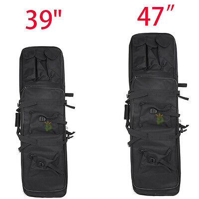 """Tactical 39"""" 47"""" Case Bag Padded Fishing Rod One/Two Carbine Rifle Weapons Gun"""