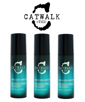 TIGI Catwalk Curl Curls Rock Amplifier 150 ml Ricci Perfetti e Definiti x 3