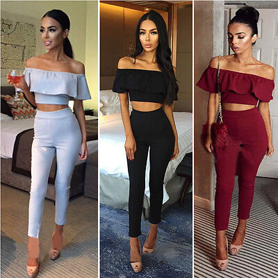 US Women Ladies Clubwear Summer Playsuit Bodycon Party Jumpsuit Romper Trousers