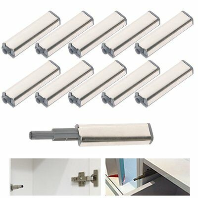 10PCS Cabinet Latch Door Drawer Push To Open System Damper Buffer Catch Set AU