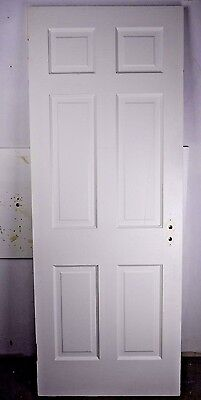 "Antique Vintage 6 Panel Interior Door 76-3/4"" X 29-3/8"" (G6) 1940's"