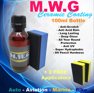 Ceramic/Glass Coating, Professional Paint Protection 100ml + 2 FREE Applicators