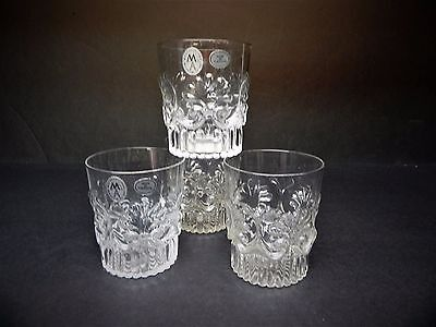 Rare Metropolitan Museum of Art Reproduction of Early American Tumblers set of 4