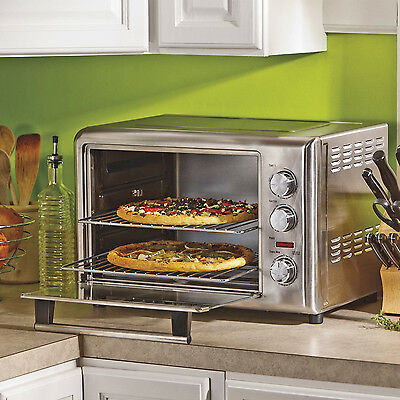 Commercial Stainless Oven Convection Toaster Kitchen Countertop Broil Bake Pizza