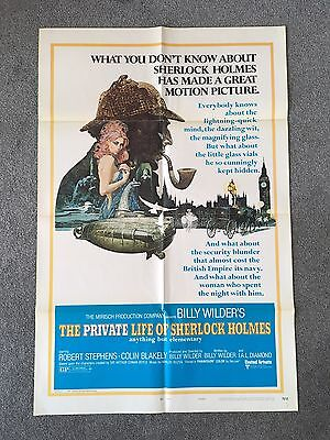 The Private Life Of Sherlock Holmes 1970 Billy Wilder US 1 Sheet Film Poster