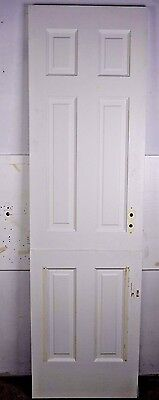 "Antique Vintage 6 Panel Interior Dutch Door 77-1/4"" X 22-1/4"" (L6) 1940's"