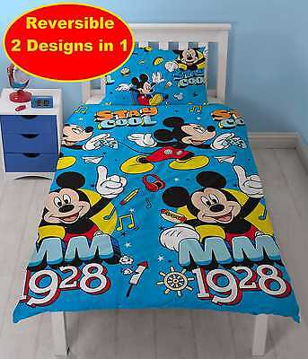 Disney Mickey Mouse  Cool Single Duvet Quilt Cover & Pillowcase Bedding Set