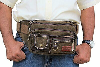 JTC-1106-KFP-L Brown Heavy Duty Canvas Fanny Pack