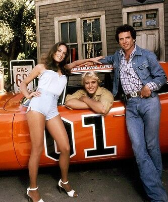 The Dukes Of Hazzard Original Cast Bo Luke Daisy Duke 8X10 Photo General Lee #3