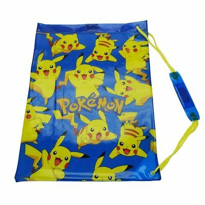 Pokemon Pikachu Character Blue School Pvc Gym P.E Swim Bag
